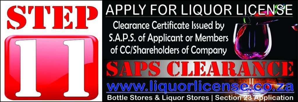 Step 11 - Apply for Liquor License