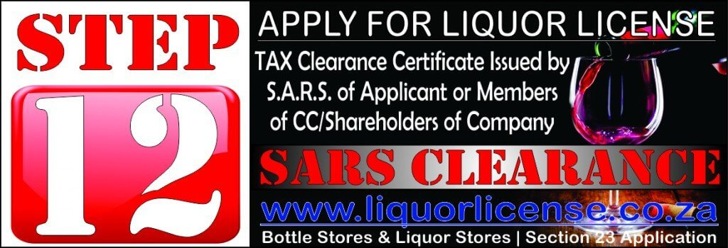 Step 12 - Apply for Liquor License