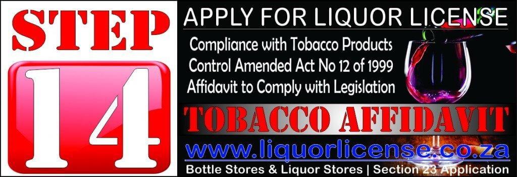 Step 14 - Apply for Liquor License