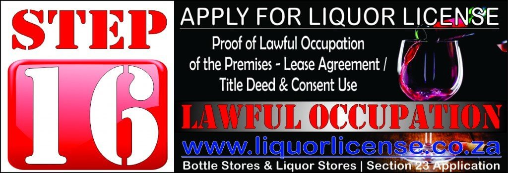 Step 16 - Apply for Liquor License