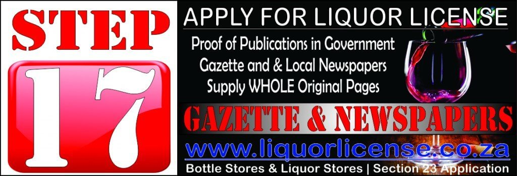 Step 17 - Apply for Liquor License