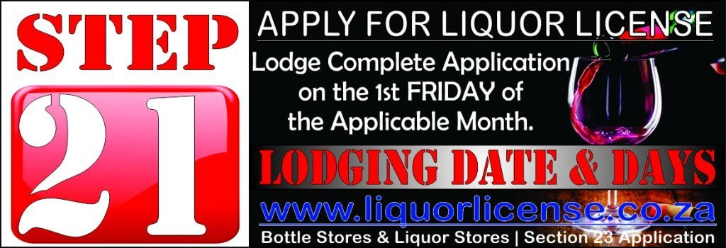 Step 21 - Apply for Liquor License