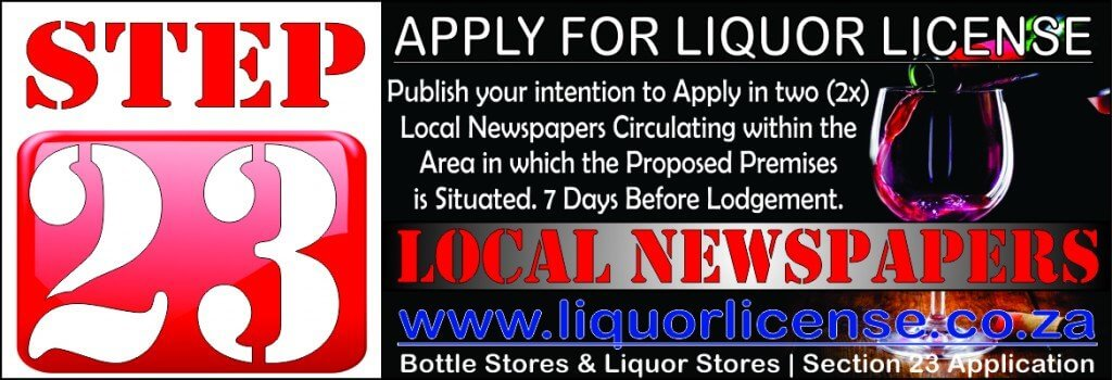 Step 23 - Apply for Liquor License