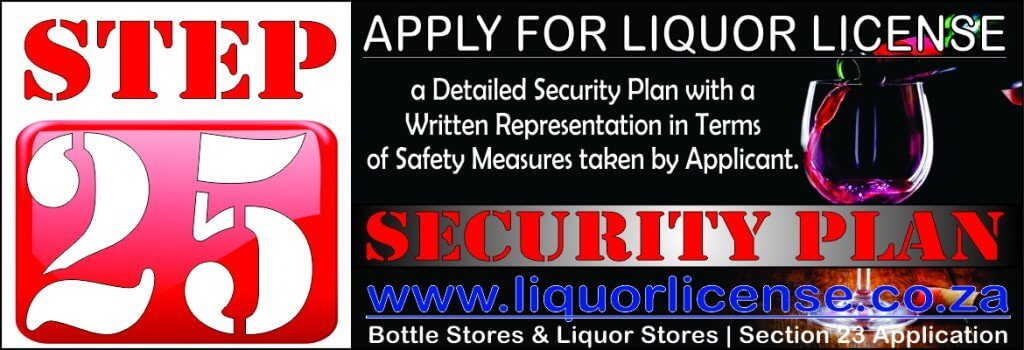 Step 25 - Apply for Liquor License
