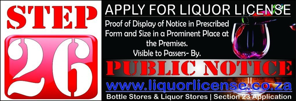 Step 26 - Apply for Liquor License