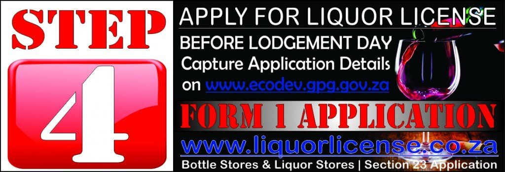 Step 4 - Apply for Liquor License