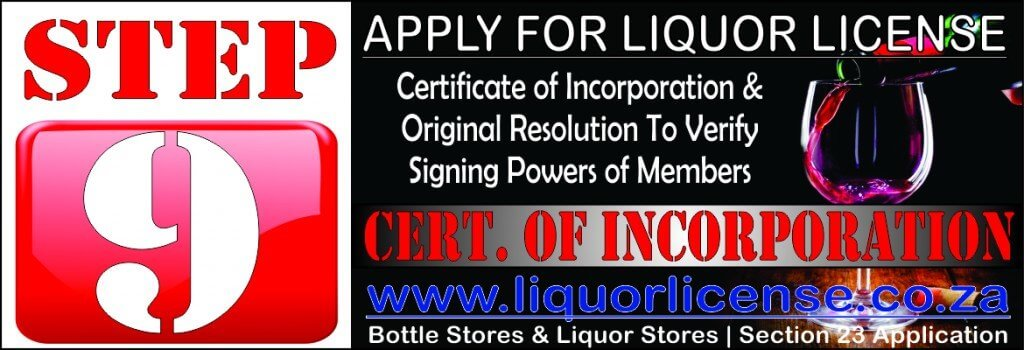 Step 9 - Apply for Liquor License